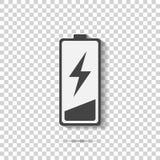 Fora do ícone do vetor da carga da bateria Baixa bateria Camadas agrupadas ilustração royalty free