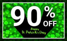 90% FORA do dia feliz de StPatrick da venda ilustração royalty free