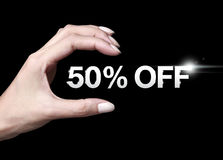 50% fora do disconto Fotografia de Stock Royalty Free