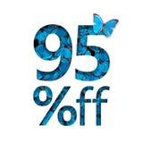 95% fora do disconto O conceito da mola ou da venda do sammer, cartaz à moda, bandeira, promoção, anúncios ilustração royalty free