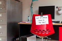 Fora do escritório Ido aos termas! Foto de Stock Royalty Free