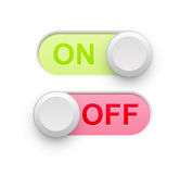 Fora do interruptor ilustração stock
