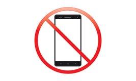 Fora do interruptor móvel do sinal fora do ícone do telefone nenhum símbolo de advertência móvel permitido telefone fotos de stock royalty free