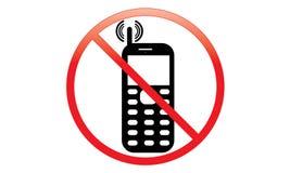 Fora do interruptor do sinal do telefone celular fora do ícone do telefone nenhum símbolo de advertência móvel permitido telefone ilustração stock