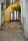 Fora do palácio real de Sintra imagens de stock