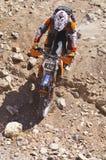 Fora do piloto da bicicleta da sujeira da estrada Fotografia de Stock