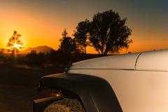 Fora do por do sol da estrada Foto de Stock Royalty Free
