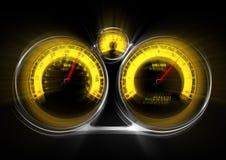 Fora do velocímetro do controle Imagem de Stock