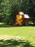 Fora e divertimento e jogos do quintal Imagens de Stock