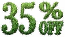 35% fora Feito da grama Fotos de Stock