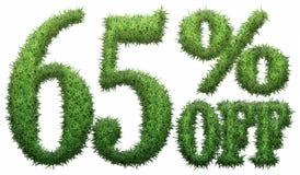 65% fora Feito da grama Fotografia de Stock