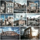 fora italy roman rome Royaltyfri Bild