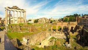 fora italy roman rome stock video