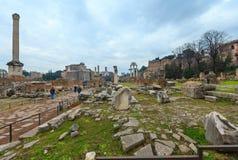fora italy roman rome Arkivfoton