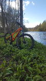 Fora mondraker da bicicleta Fotografia de Stock