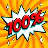 100 fora Oitenta por cento fora da venda no fundo torcido cor-de-rosa Fotografia de Stock Royalty Free