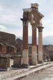 fora roman pompeii Royaltyfria Bilder