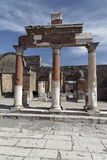 fora roman pompeii arkivfoto