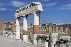 fora roman pompeii Arkivfoton