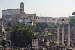 fora roman rome arkivbilder