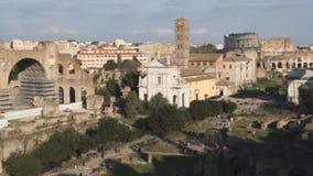 fora roman rome arkivfilmer