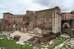 fora roman rome fördärvar Arkivfoto