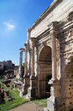 Fora Romanum Rome Italien Arkivfoton