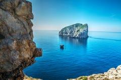 Foradada island in Capo Caccia Royalty Free Stock Photography