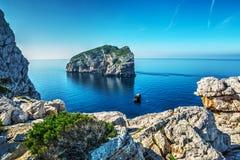 Foradada island on a clear day Stock Image