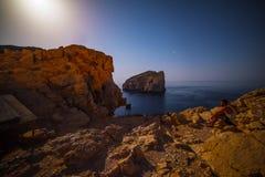 Foradada island on a clear night Stock Images