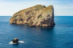 Foradada Island in Sardinia, Italy. Palombi cave on Foradada Island near Alghero city in Sassari Province, Sardinia, Italy royalty free stock image