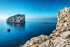 Foradada island seen from Capo Caccia Stock Photos