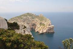 Foradada wyspa - Alghero Zdjęcia Royalty Free