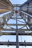Forage de pétrole Rig Inside View photo stock