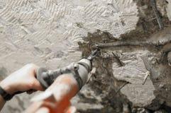 Forage et démolition, marteau de breake Images stock