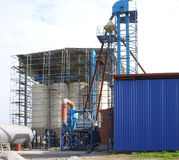 A forage factory. Construction of a new factory for manufacture of fodder Royalty Free Stock Photo