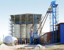 A forage factory. Construction of a new factory for manufacture of fodder Royalty Free Stock Images