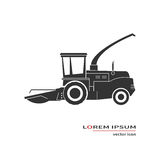 Forage harvester icon. Isolated on background. Vector illustration Stock Photos