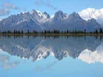 foraker uroczysty jeziora mt odbicia tokosha zdjęcia royalty free