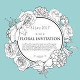 Foral background for wedding, birthday, invitation Stock Photos