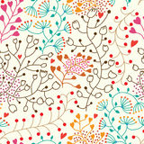 Foral seamless pattern in vector Royalty Free Stock Images