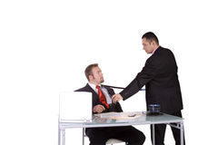 Forçamento para assinar um contrato Fotografia de Stock