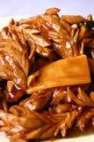 forar för pork för kidne för mat för bambuporslin läckra Royaltyfri Bild