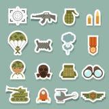 Forças armadas e ícones da guerra Imagens de Stock
