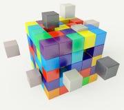 Forastero en el concepto del equipo - representación 3d stock de ilustración
