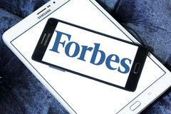 Forbes Magazine Logo Stockfotos