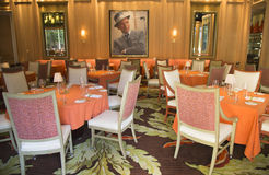 Forbes Travel Guide Four-Star Sinatra Restaurant Interior at Encore Las Vegas Casino Stock Photography