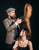 Forbici del barbiere immagini stock