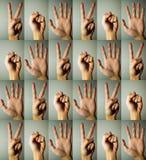 Forbici di carta della roccia Fotografia Stock