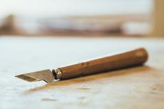 Forbici di legno Fotografia Stock Libera da Diritti